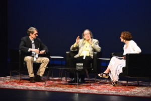 Peter McCarthy, Mike Shatzkin, and Cynthia Good at Book Summit 2014 | photo by Marc Lapanno